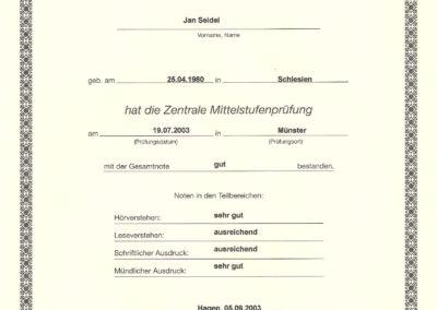 Zentrale Mittelstufenprüfung (Goethe-Zertifikat C1)